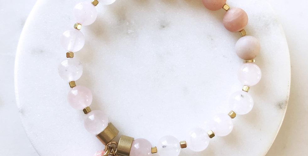 Mala Bracelet in Peach