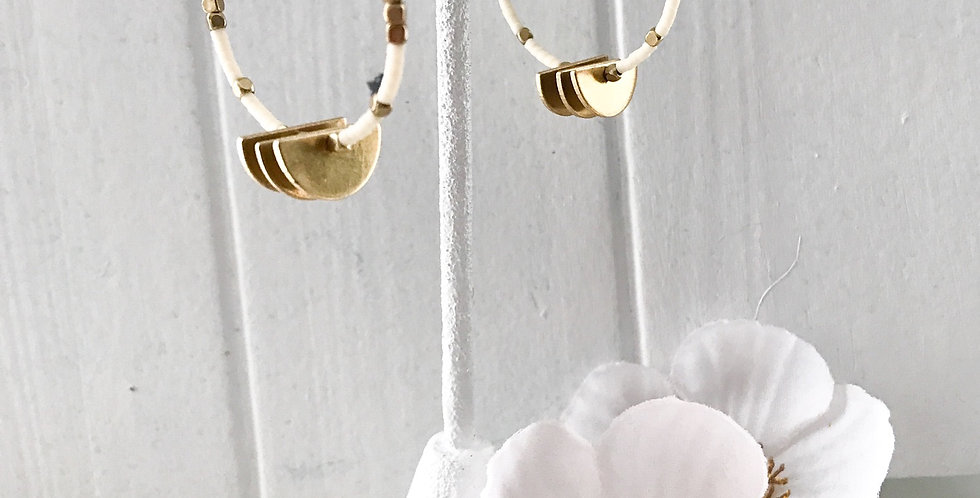 Wedge Hoop Earrings