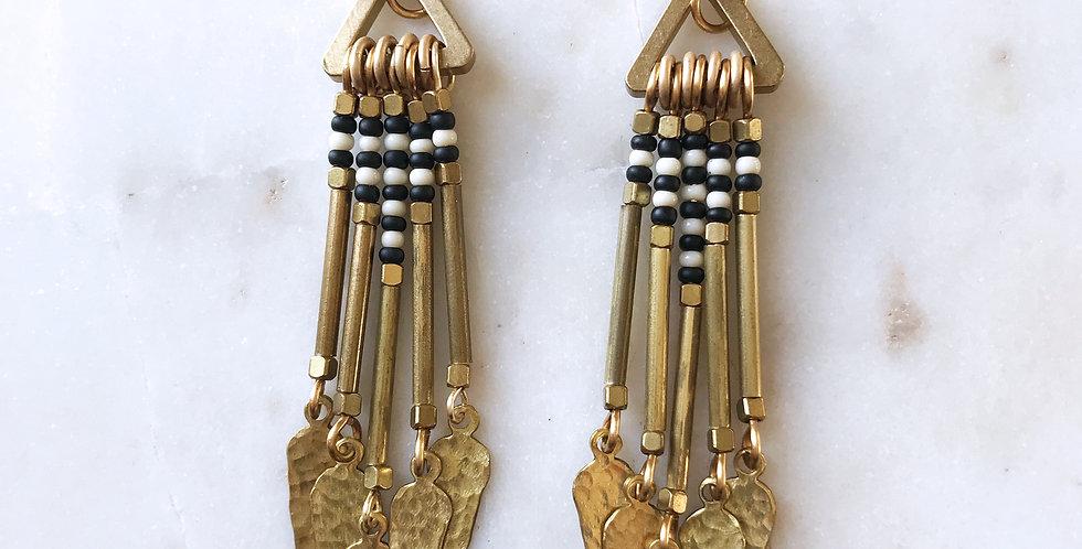 Agave Earrings in Stripe