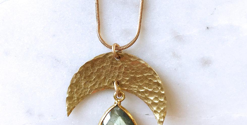 Eclipse Necklace in Labradorite