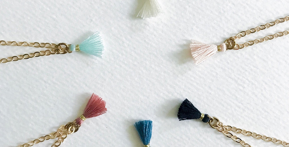Tassel Dainty Necklace (6 colors available)