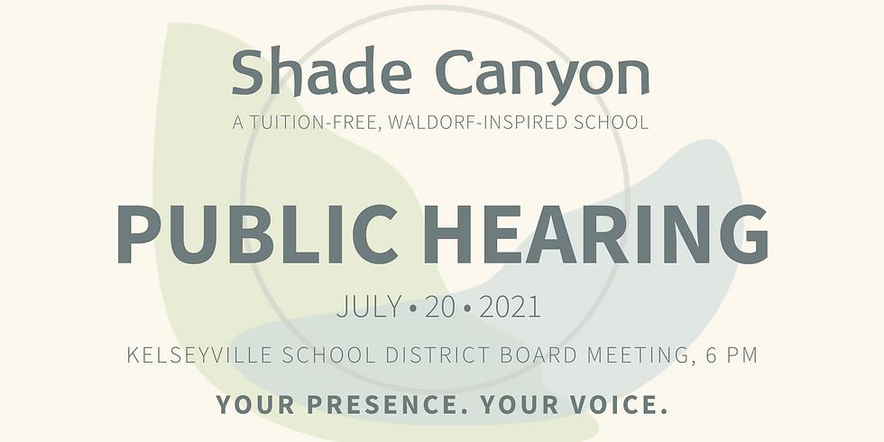 Shade Canyon Public Hearing