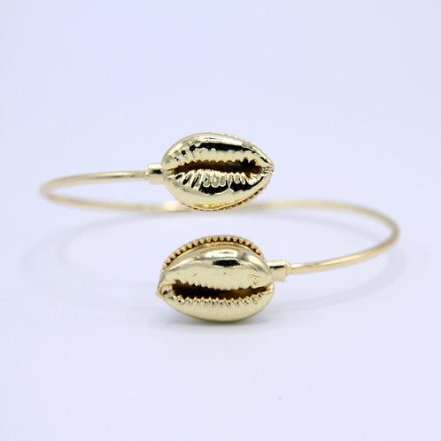 All Gold Cowrie Bracelet