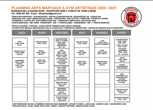 planning arts martiaux et gym guadeloupe-1
