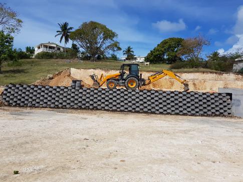 Travaux de terrassement - Saint-François, Guadeloupe
