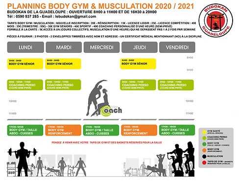PLANNING MUSCULATION BODY GYM 1 le bon.j