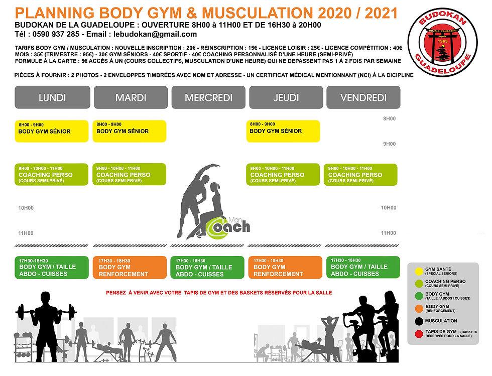 PLANNING MUSCULATION BODY GYM 1 le bon.j
