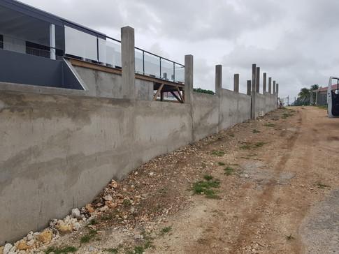 Réalisation d'un mur de soutainement Saint-François - guadeloupe-