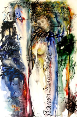 GG-1-R. M. Rilke-Gedicht-Tempera auf Leinwand-90x60- IMG_0040