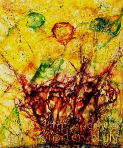 GG-13-Maria Kahle-Gedicht-Malpaste u. Tempera auf Leinwand-95x80-IMG_0034