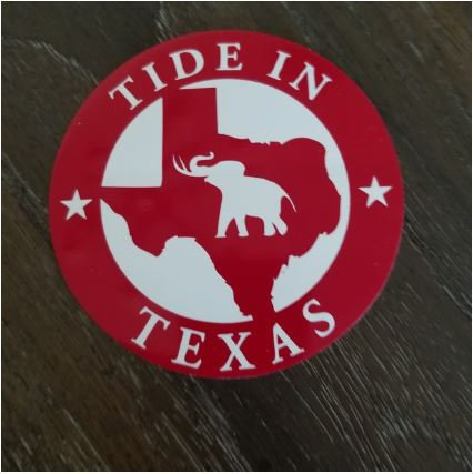 Tide in Texas Decal