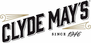 Clyde May's Logo - Black and Tan on Whit