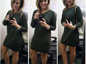 Saying YES to this Sweater Dress