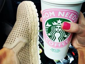 Running on caffeine and cute espadrilles