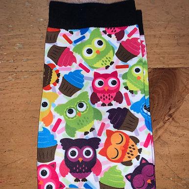 Ovation Footzees Socks-Owls