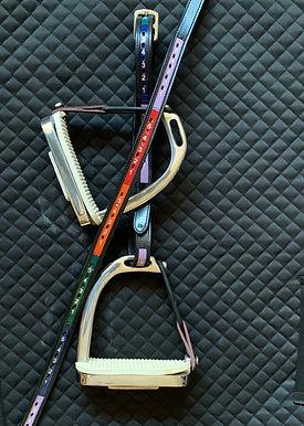 Rainbow Stirrup Leathers