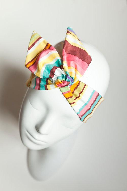 bandeau fil de fer motif rayures multicolores
