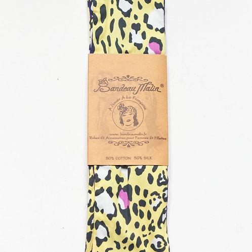 bandeau cheveux pour femme imprimé léopard