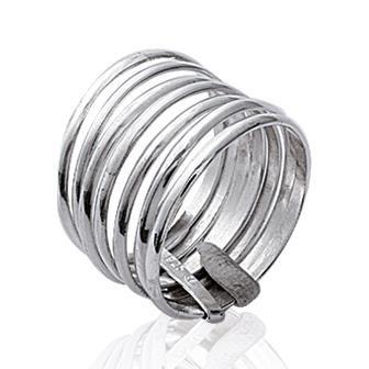 Bague semainier pour femme en Argent 925 composée de 7 anneaux
