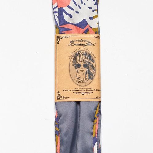 bandeau cheveux femme avec fil de fer à motifs exotiques