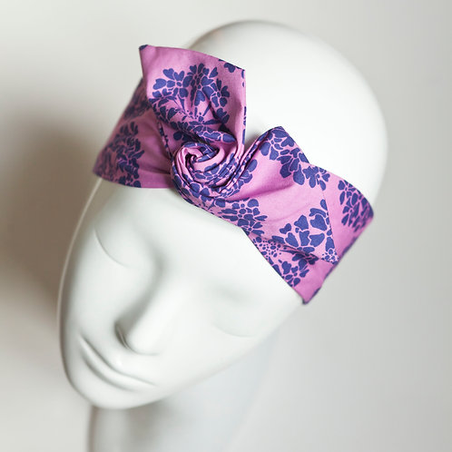 bandeau malin fil de fer violet fleuri