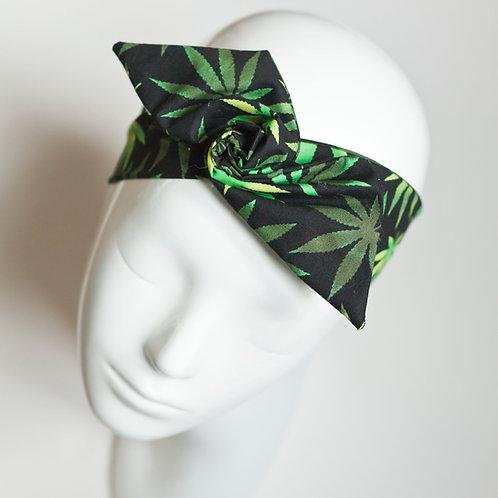 bandeau malin fil de fer motif feuilles de cannabis
