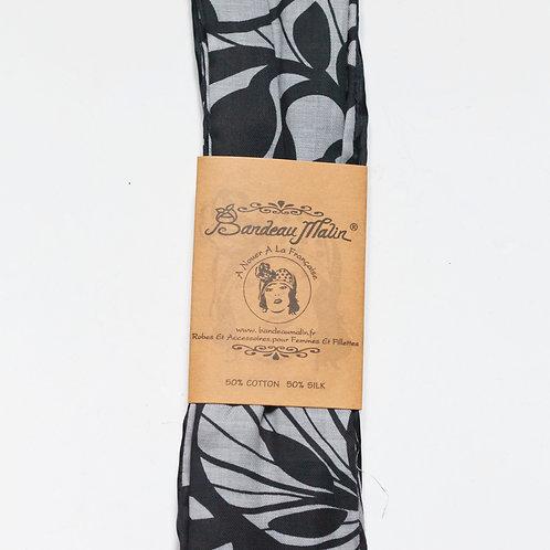bandeau malin avec fil de fer à motif gris et noir