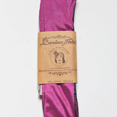 bandeau cheveux femme uni rose fuchsia