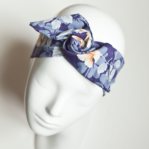 bandeau malin fil de fer motif fleur monoï hawaï
