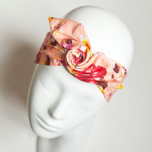bandeau malin fil de fer imprimé fleuri