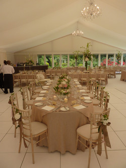Top Table Wedding Marquee
