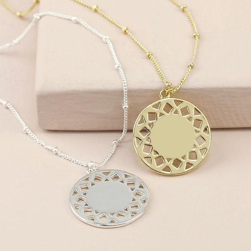 Geometric Pendant & Chain