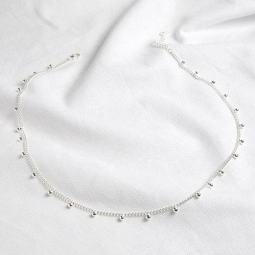 Silver Bobble Chain Necklace