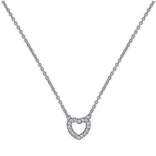 CZ Heart Pendant on Chain