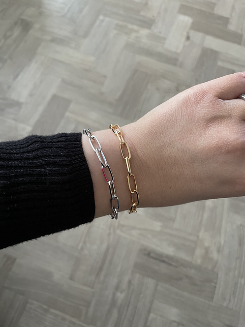 Chain Link Bracelet - Silver & Gold