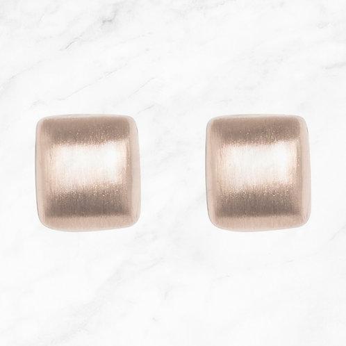 Matt Stud Square Earrings - Silver or Rose Gold