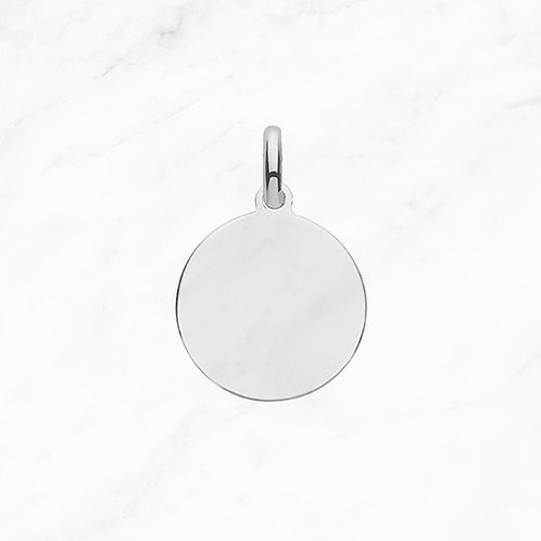 Silver Round Tag Pendant
