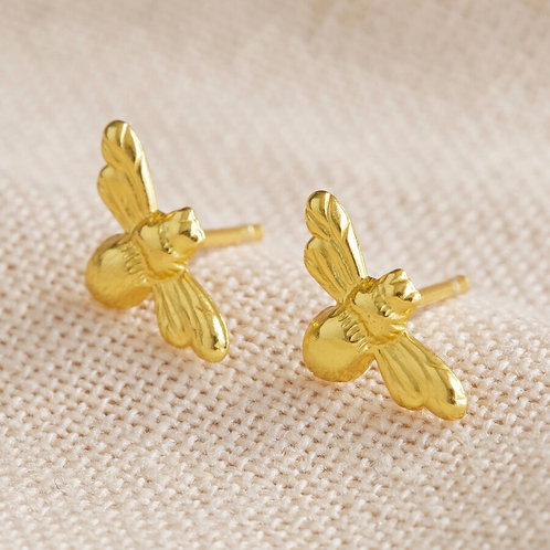 18CT Gold Bumblee Earrings