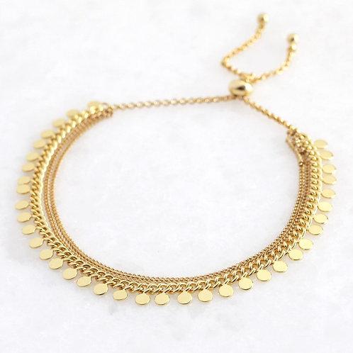 Disc Layer Bracelet