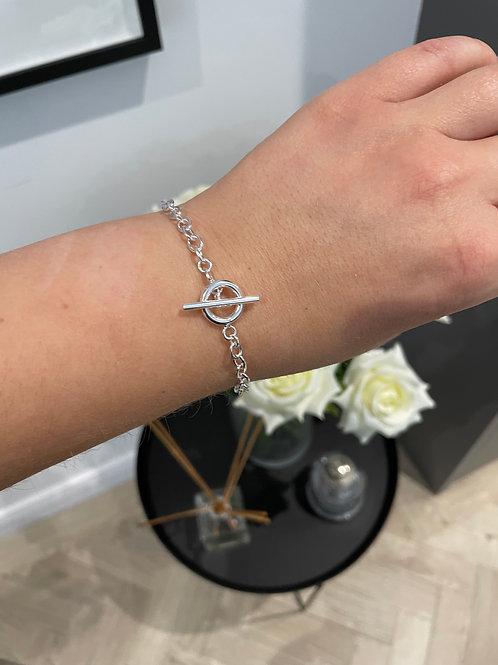 Silver T Bar Chain Bracelet