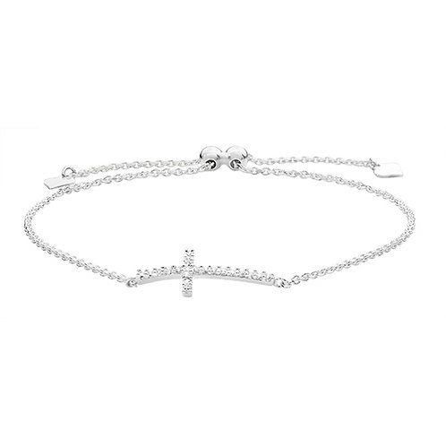 CZ Cross Bracelet
