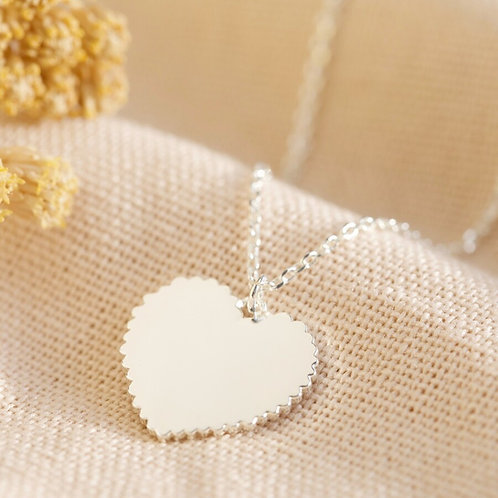 Polished Heart with Scalloped Edge