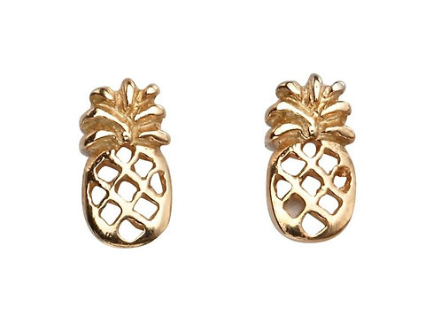 Rose Gold Plated Pineapple Studs