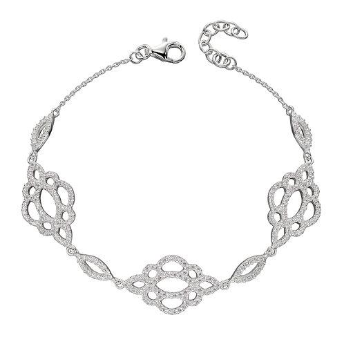 Lace Effect CZ Bracelet
