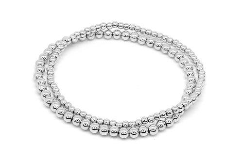 Stretchy Ball Bracelet Set - Silver & Gold