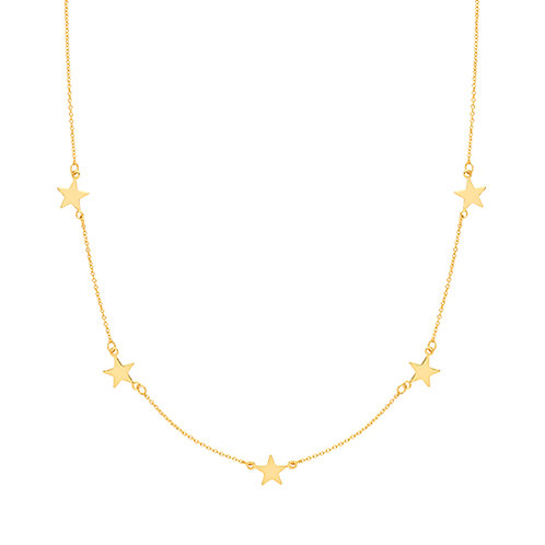 Yellow Gold Plated Star Necklet