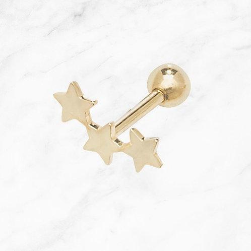 9CT Gold Star Cartilage Stud