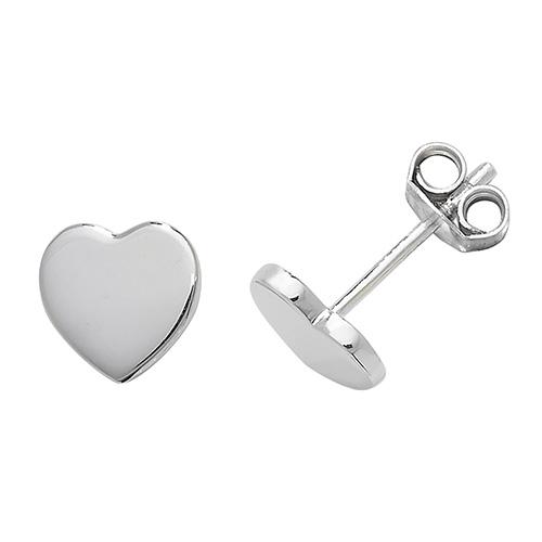 g51049_am silver heart stud earrings