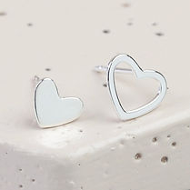 Heart stud earrings from Lucie and Olivia