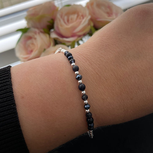 Navy & Silver Friendship Bracelet